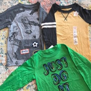 Lot of 3T long-sleeved tees
